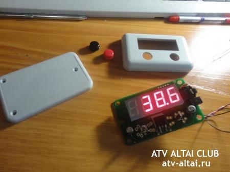 Фотоотчёт об установке цифрового термометра на квадроцикл