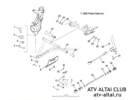 Замена подшипника передней ступицы Polaris Sportsman 500